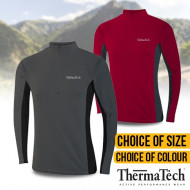 Thermatech Mens Long Sleeve Zip Shirt
