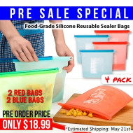 Reusable Silicone Sealed Food Bags