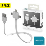 Allocacoc 3-in-1 Power USB Cable