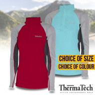 Thermatech Womens Long Sleeve Zip Shirt