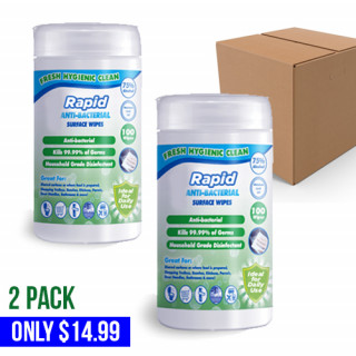 Rapid 75% Alcohol Canister Surface Wipes