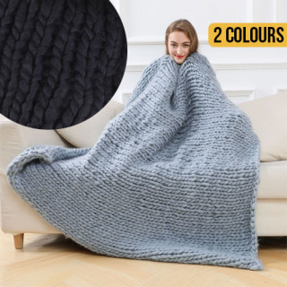 Chunky Knit Thick Woven blanket