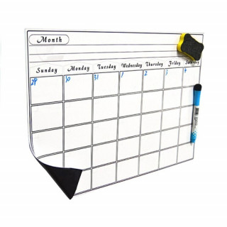Magnetic Calendar Monthly Board